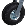 Foam filled swivel wheel